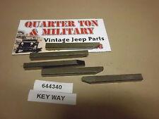 Jeep Willys CJ2A CJ3A M38 M38A1 CJ3B  Dana 41/44 rear axle key
