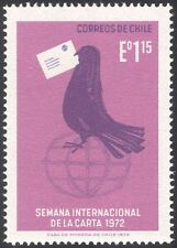 Chile 1972 Letter Week/Carrier Pigeon/Animation/Bird/Globe/Post/Mail 1v (n31668)