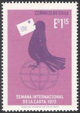 Chile 1972 carta semana/paloma mensajera/Animación/Pájaro/Globo/Post/Correo 1v (n31668)