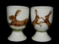 BN Personalised Fine Bone China Hare Egg Cup Boxed, Boxing  Running Hare Design