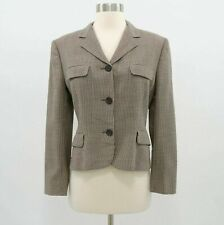 Ralph Lauren Collection Blazer Jacket Womens 4 Houndstooth Wool Mohair Brown