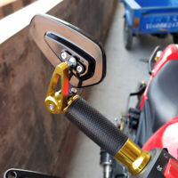 "Gold Motorcycle 7/8"" Handle Bar End Mirrors For For Suzuki GSXR 1000 750 600 250"