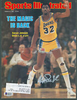 Lakers Magic Johnson Signed March 1981 Sports Illustrated Magazine BAS Witnessed