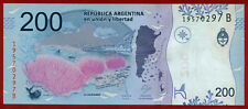 ARGENTINA  2017   200 Pesos ( 297 B  ) World  paper money  currency bank note