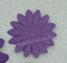 "10 x 5cm ""PURPLE"" Paper Flower Petals by Green Tara - Scrapbooking Cards Craft"
