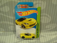 2015 HOT WHEELS ''HW WORKSHOP'' #216 = `14 CORVETTE STINGRAY = YELLOW int.