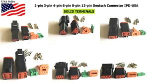 Deutsch 2,3,4,6,8,12 Pin Connector  Housing, Solid Green band Terminal 14-16 AWG