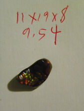 Fire Agate Cab Cabochon 11x19x8 MM. 9.54 Carats Lots Of Fire.