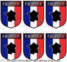 FRANCIA Scudo Francese 40mm Adesivi per Cellulare, Decalcomanie, Stickers x6