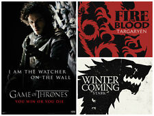 Game of thrones 3 Individual Posters wall watcher winter Fire and Blood New!