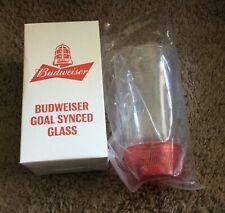 Budweiser Red Light Goal Synched Glass Brand New S1