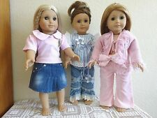 """New-Doll Clothes:Pants/Skirt/Top [3 Sets] fit 18"""" Doll such as Ag Doll-Lot #256"""