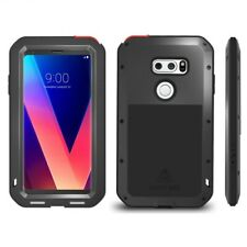 For LG V30/V35 ThinQ Armor Protective Case Metal Aluminum+Soft Silicone Cover