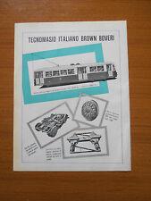 1952 TECNOMASIO ITALIANO BROWN BOVERI VETTURA TRAMVIARIA ADERENZA PARZIALE TRAM