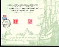 Visitor Center Cancelled BEP Souvenir Card - B178  ASDA 1993