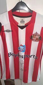 Signed Sunderland Home Shirt - Darren Bent & Asamoah Gyan