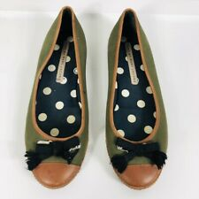 Marc By Marc Jacobs Size 39 9 Green Brown Flats Casual Work Career