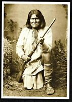 ⫸ 952 Postcard Geronimo Apache Warrior Chief Indian Photo 1885 - NEW