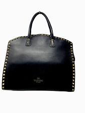 Authentic Valentino GARVAVANI Rockstud Dome Tote / Handbag - Black