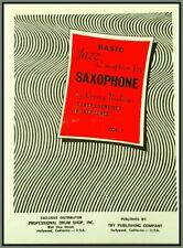 JAZZ CONCEPTION SAXOPHONE Workbook 12 Exercises 10 Jazz Tunes by LENNIE NIEHAUS