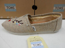 TOMS WOMENS CLASSIC EMBROIDERED REINDEER SIZE 8.5