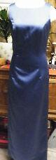 Michelangelo blue satin formal bridesmaids evening long dress 8