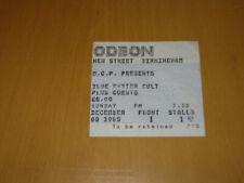 BLUE OYSTER CULT - 1985 UK GIG TICKET STUB       (A)