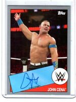 WWE John Cena 2015 Topps Heritage SILVER Authentic On Card Autograph SN 16 of 25