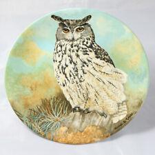 Coalport Eagle Owl Bone China Plate - Limited Edition Boxed. Michael Sawdy