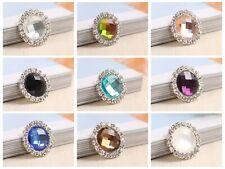 10pcs Crystal Rhinestone Cabochons Button Flatback Round 20mm Wedding Invitation