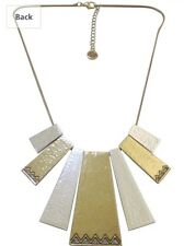House Of Harlow 1960 Golden Scutum Statement Necklace