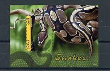 Ghana Snakes Postal Stamps