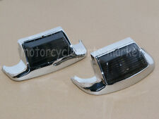 Smoke Front Rear Fender Tip Light Mudguard Trim For Harley Touring Road King
