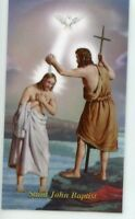 ST. JOHN THE BAPTIST - Laminated  Holy Cards.  QUANTITY 25 CARDS