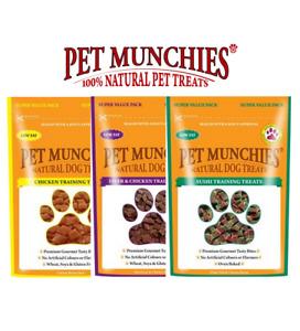 Pet Munchies Dog Training Treats - 100% Natural - 8 x 150g Bags