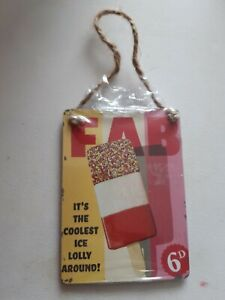 FAB lolly retro small hanging plaque