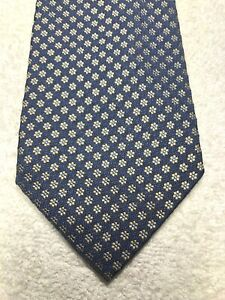 BANANA REPUBLIC MENS TIE NAVY BLUE WITH GRAY AND BLUE 3.75 X 60 NWOT