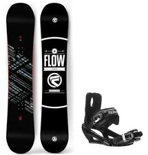 2018 Flow Gap 158cm Snowboard 5th Element Bindings With Cap Strap
