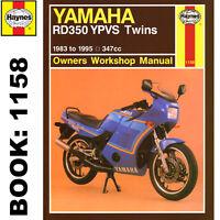 Yamaha RD350 YPVS Twins 1983-95 Haynes Workshop Manual