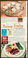 1963 Sunsweet Prunes Sun-Maid PRINT AD Prune Satin Pie Royal Raisin Sauce