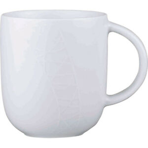 Jamie Oliver Mug 400ml White on White Collection by Queens Churchill China