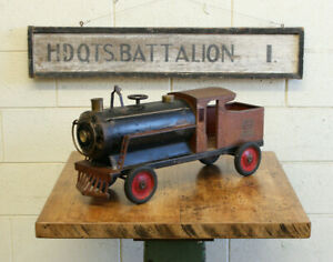 Vintage Antique Keystone Train Truck Depression Era Pressed Steel Toy 1920s 26""