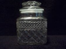 """Anchor Hocking  """"WEXFORD""""  6-3/8"""" SUGAR CANISTER & LID"""
