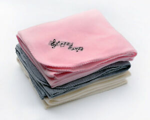 """Music Notes Fleece Blanket - 50"""" x 60"""" - Pink w/ embroidered black musical notes"""