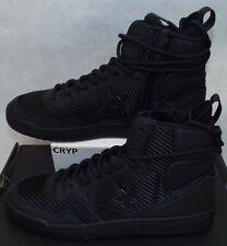 New Mens 10 Converse Fastbreak Hi Triple Black Zipper Boots Shoes $120 162558C