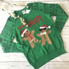 Well Worn Holiday Christmas Sweater Gingerbread Oh Snap Size Small