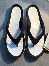 Crocs Swiftwater Flip Women's Size 7 8 Flip Black White 204974 066 Sandals Flops