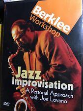 Jazz Improvisation: A Personal Approach with Joe Lovano Dvd Berklee Workshop