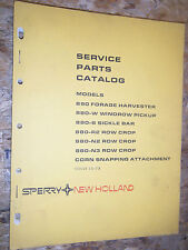 1976 New Holland Model 890 Forage Harvester 880 Sickle Bar R2 N2 Parts Catalog