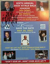 Dick Vitale signed autographed 8.5x11 6th D.V. Gala handout - one of-a-kind auto